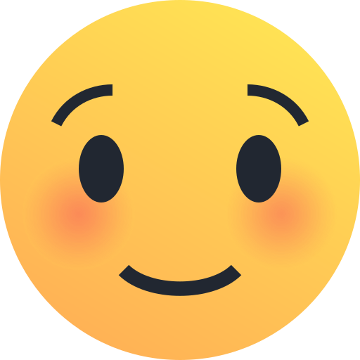 blush, emoji, emoticon, reaction, shy, smile icon