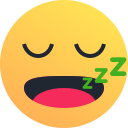 emoji, emoticon, reaction, sleepy, snooze icon