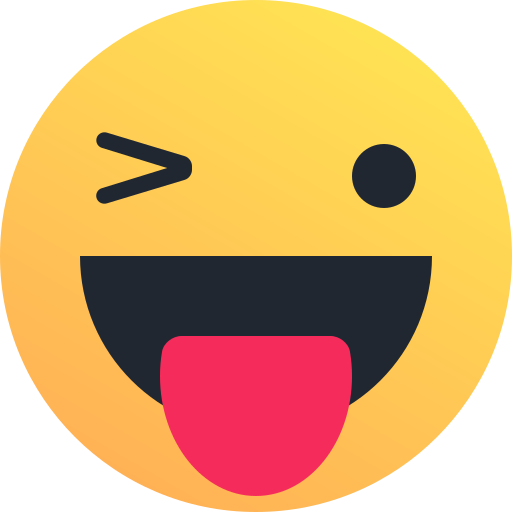 emoticon, happy, reaction, smiley, tongue, wink icon