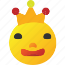 crown, emoticon, king icon