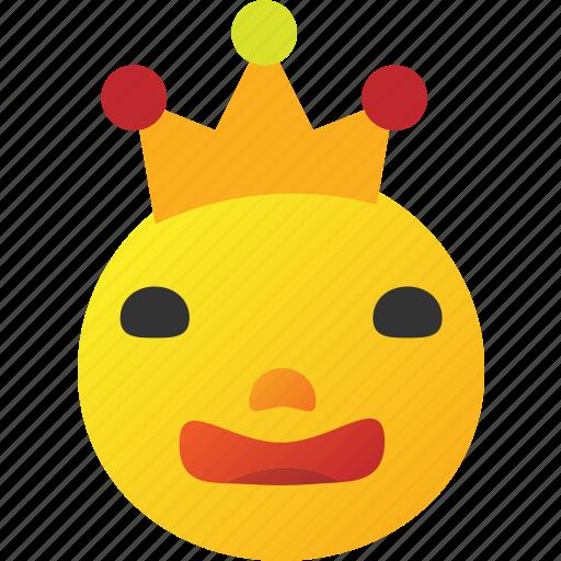 crown, emoticon, king icon