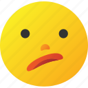 embarrass, emoticon, wonder icon