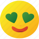 emoticon, heart, love icon