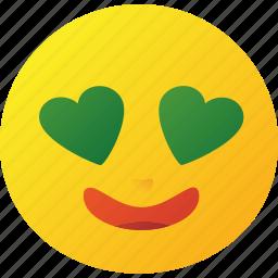 emoticon, heart, love icon