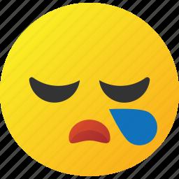 cry, emoticon, tired icon