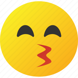 emoticon, face, love, whistle icon icon