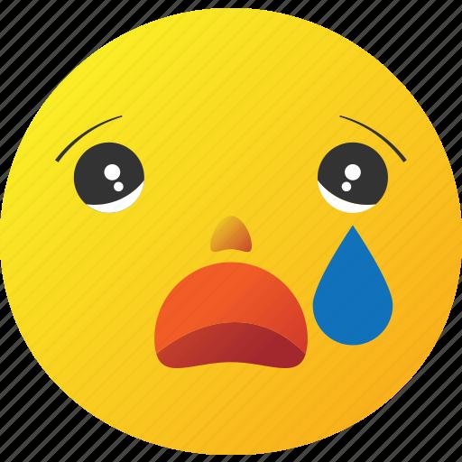 cry, crying, emoticon, sad icon