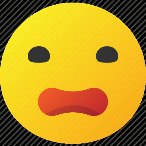 confused, emoticon, sad icon