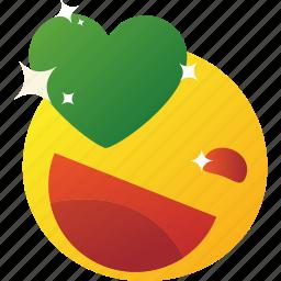 emoticon, happy, love, loved icon