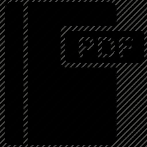 book, pdf, read, text icon