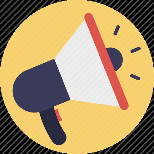 Advertising, announcement, bullhorn, loudspeaker, megaphone icon - Download on Iconfinder