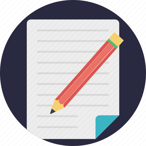 agreement, notes, paper, pencil, writing icon