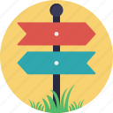 directional arrows, directions, fingerpost, guidepost, signpost icon