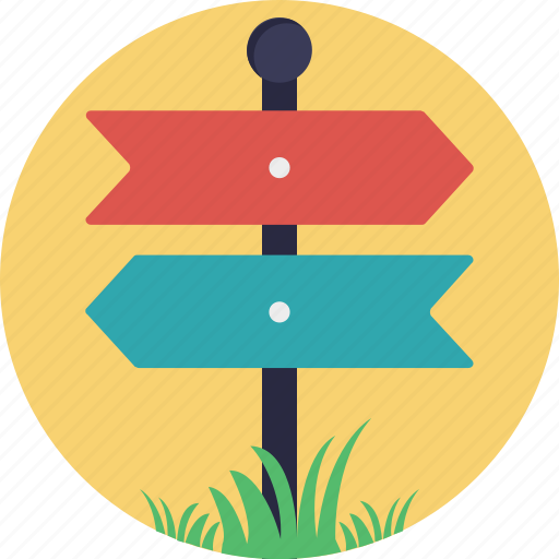 Directional arrows, directions, fingerpost, guidepost, signpost icon - Download on Iconfinder