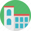 arcade, building, commercial building, market house, restaurant icon