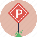 car parking, parking area, parking sign, road sign, traffic sign icon