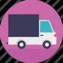 cargo truck, industrial truck, logistic truck, shipping van, trailer van icon