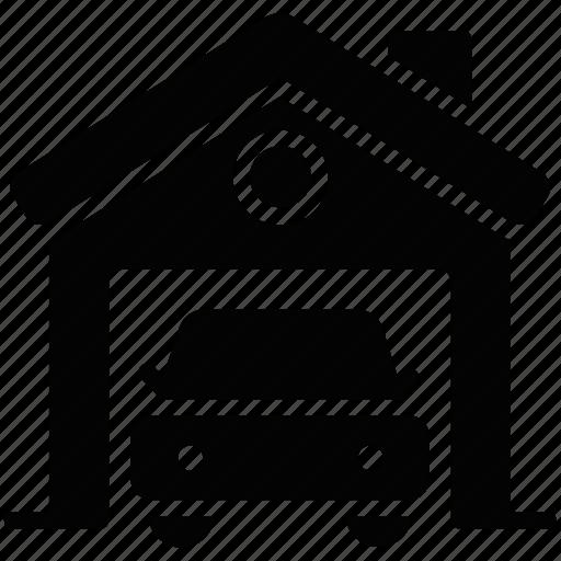 car wash, carport, garage, house garage, service station icon