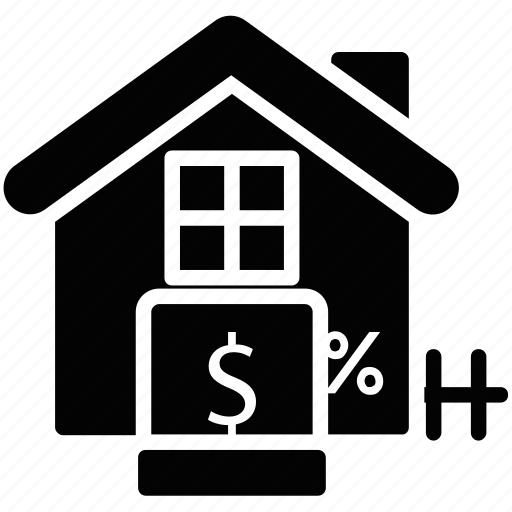 house interest, house value, mortgage rate, property cost, property tax icon