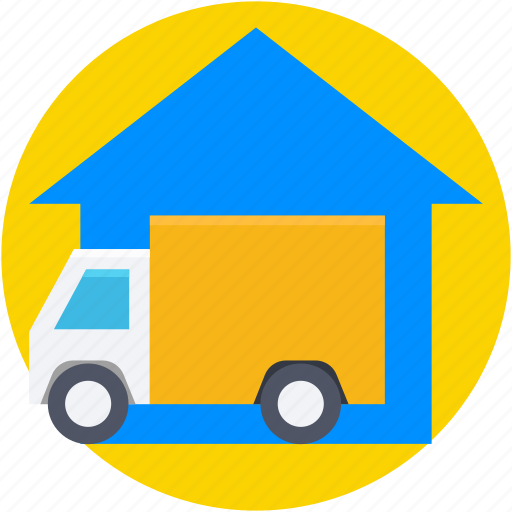 car garage, car parking, car porch, garage, garage service icon