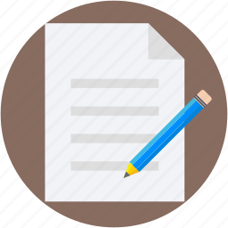 paper, pencil, sheet, signature, writing icon