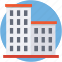 building, city building, flats, office block, skyscraper icon
