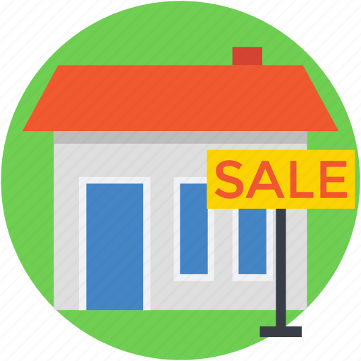 auction, for sale, house, house for sale, property sign icon