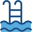 pool, pool ladders, pool stairs, pool steps, swimming icon