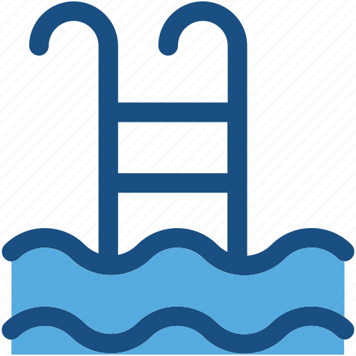 pool, pool ladders, pool stairs, pool steps, swimming icon