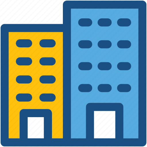 apartments, building, flats, hotel building, residential flats icon