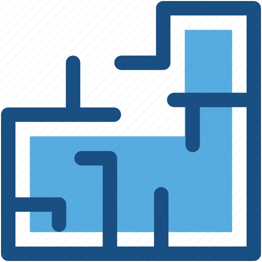 Architectural project, blueprint, construction map, construction plan, house plan icon - Download on Iconfinder