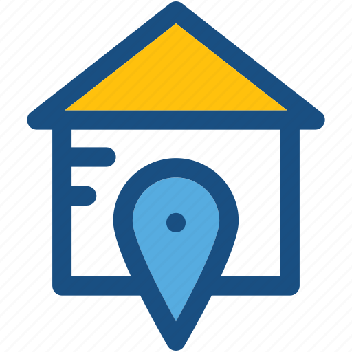 Gps, home location, location holder, map pin, navigation icon - Download on Iconfinder