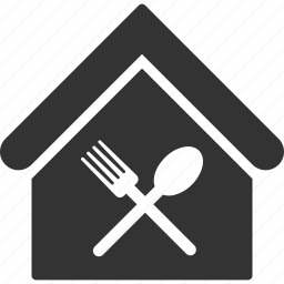 building, cafe, food, home, house, real estate, restaureant icon