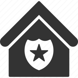 home, house, military, police, protection, real estate, security icon