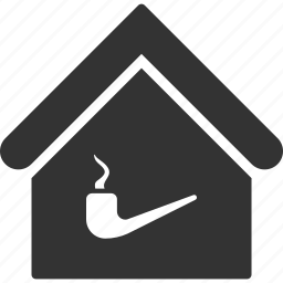 home, house, men club, real estate, room, smoke, smoking icon