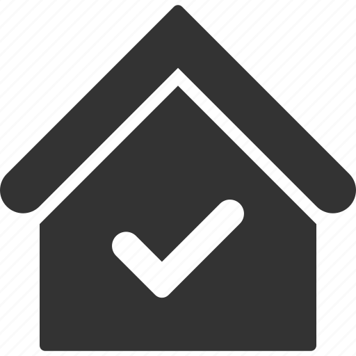 accept, check, home, house, ok, real estate, valid icon