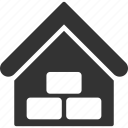 garage, goods, home, house, real estate, storage, warehouse icon