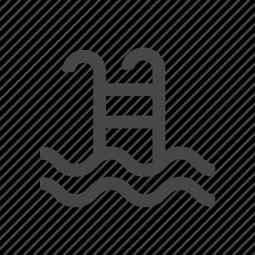 estate, pool, real, swimming pool icon