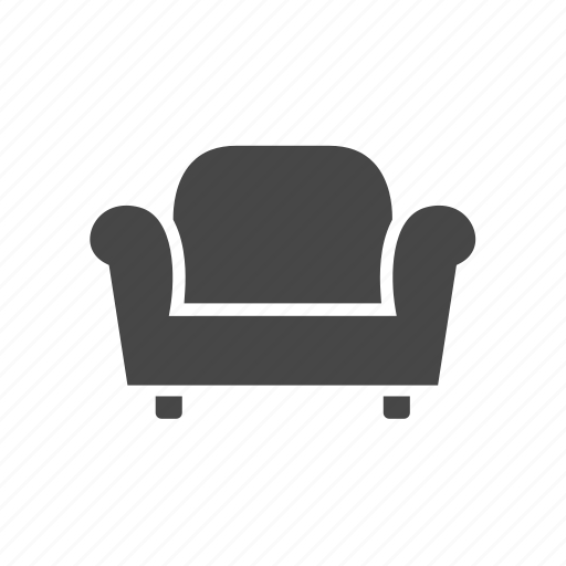 armchair, chair, living room, real estate, sofa icon
