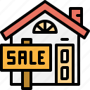 billboard, building, estate, home, property, real, sale icon