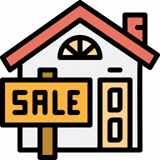 billboard, building, estate, home, property, real, sale icon
