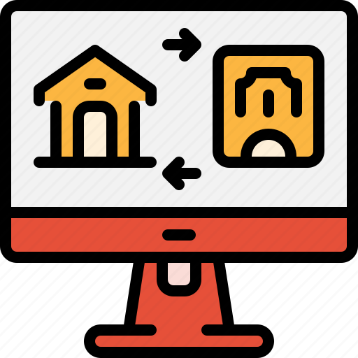 estate, home, loan, mortgage, online, property, real icon
