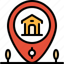 estate, home, location, map, pin, property, real icon
