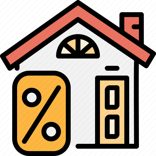 estate, home, interest, loan, mortgage, property, real icon