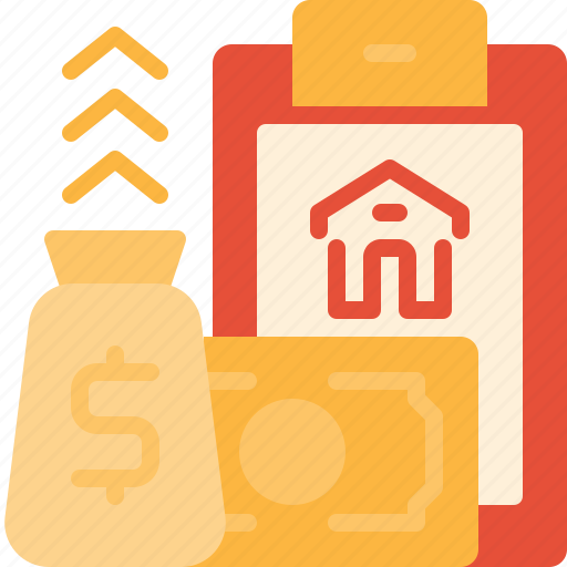building, estate, home, loan, mortgage, property, real icon