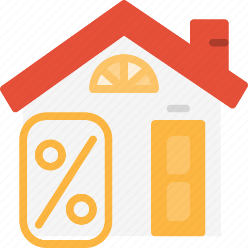 Real, mortgage, estate, loan, interest, home, property icon