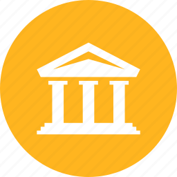 bank, building, court, finance, financial, museum icon