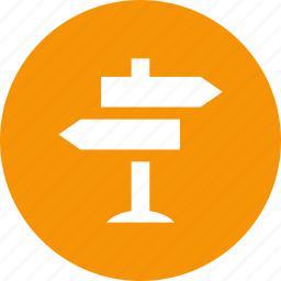 arrows, decisions, directions, location, navigation, selection icon