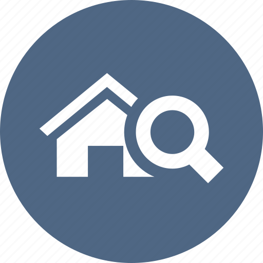 find, home, magnifier, search, searchestate, zoom icon