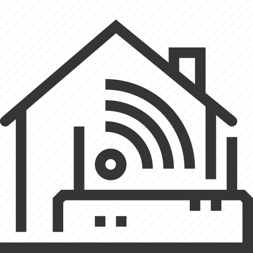 cable, house, internet connection, network, wi-fi, wireless icon